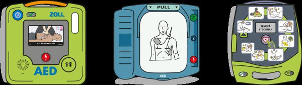 Defibrillaattorimallit